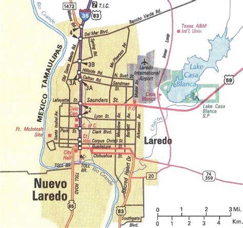 map of laredo texas downtown laredo map laredo texas mappery