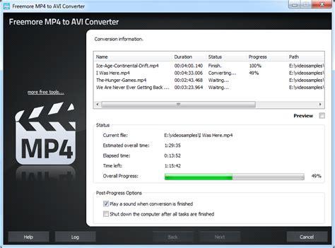 converter to mp4 freemoresoft freemore mp4 to avi converter convert mp4