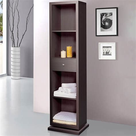 swivel mirror bathroom cabinet artiva home deluxe cabinet shelving unit with swivel