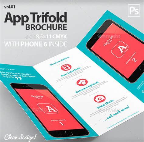 design leaflet app 45 best psd tri fold brochure templates pixel curse