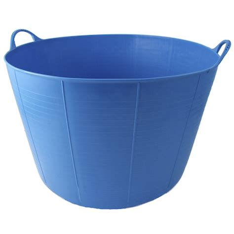 flexible bathtub tubtrugs flexible plastic extra large garden feed bucket tub blue new ebay