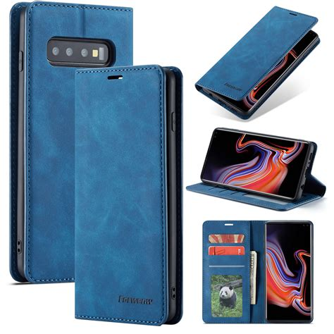 Samsung Galaxy S10e Cases by For Samsung Galaxy S10e Blue Magnetic Leather Wallet Card Slot Flip Cover Ebay
