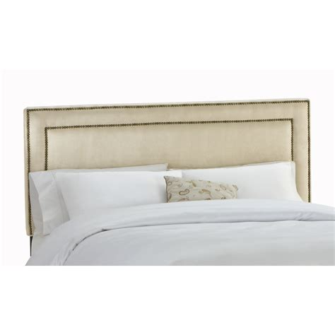 Headboards For California King Shop Skyline Furniture Wellington Collection Oatmeal California King Microsuede Headboard At