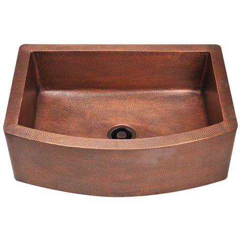 copper apron front sink polaris sinks farmhouse apron front copper 33 in single