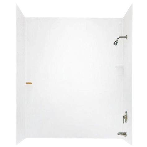 adhesive bathtub walls swan 30 in x 60 in x 72 in 3 piece easy up adhesive tub