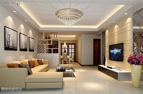 false ceiling design with fan for rectangular living room