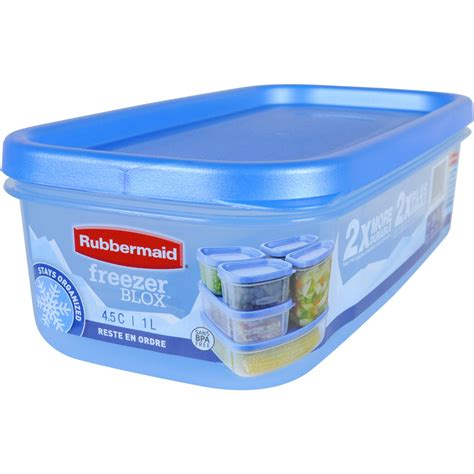 freezer storage containers rubbermaid freezer blox 4 6 cup food storage container