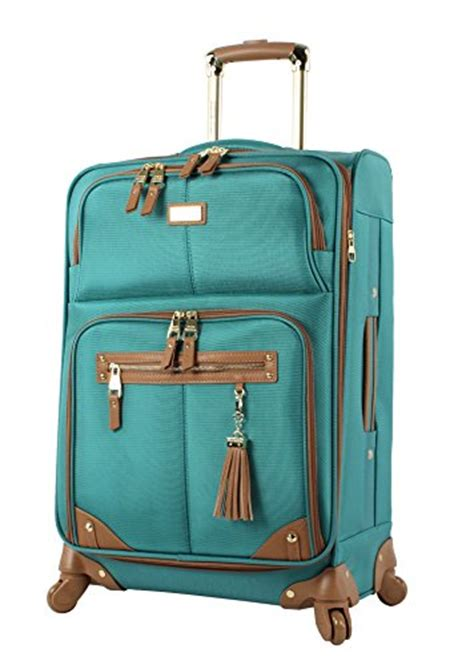 Steve Madden Luggage by Steve Madden Luggage 3 Softside Spinner Suitcase Set Collection One Size Harlo Teal Blue