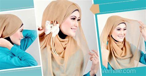 tutorial jilbab pesta kombinasi cassanova tutorial jilbab segi empat untuk acara pesta
