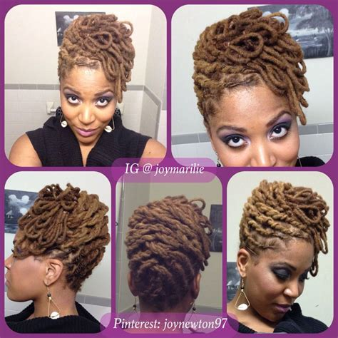 flat twists two strand twists and loc petal pin up