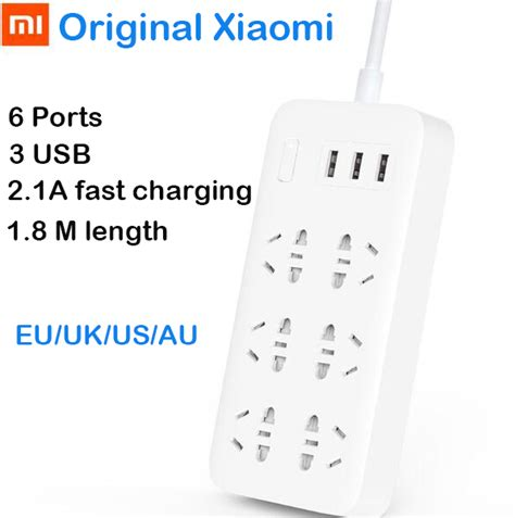 Exclusive Xiaomi Mi Smart Power 6 Socket 3 Usb Port White תקע שקע כח חכם פשוט לקנות באלי אקספרס בעברית זיפי