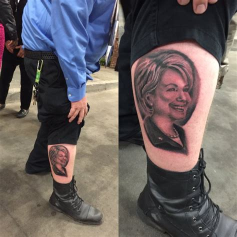 tattoo parlour hillarys these die hard hillary clinton and donald trump supporters