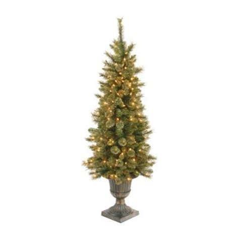 4 ft glittery gold pine entrance artificial christmas