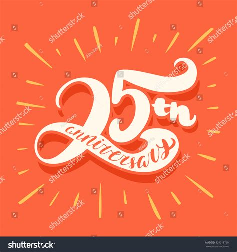 libro illustration now 25th anniversary 25th anniversary card stock vector illustration 329018720 shutterstock