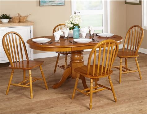country kitchen farmhouse 5 oak dining room set ebay