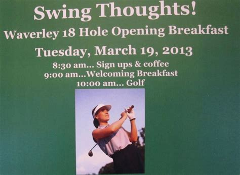swing thoughts golf waverley country club kicks off spring season golf with