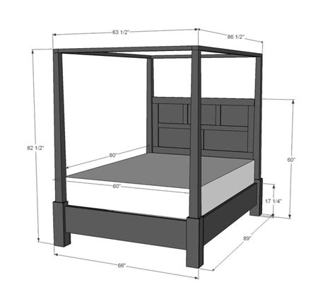 canopy bed plans 25 best ideas about 4 poster beds on pinterest poster