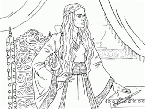 thrones colouring book adults cersei lannister of thrones coloring book