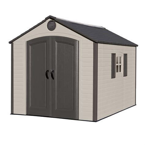 lifetime 8 x 10 outdoor storage shed brown bj s
