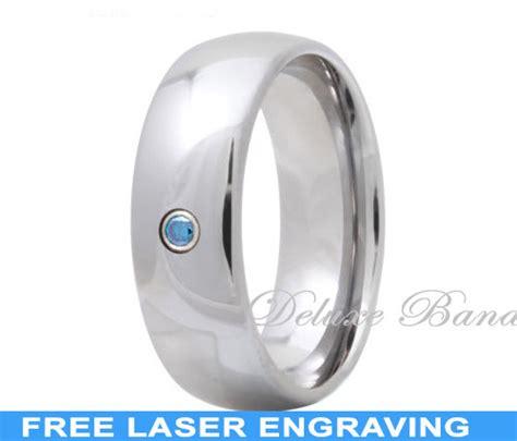 tungsten wedding ring aquamarine wedding band march