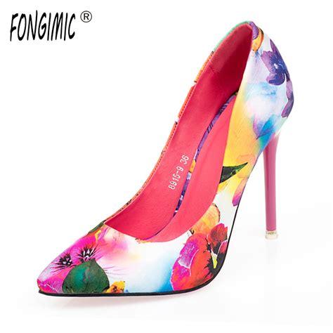 Sepatu High Heels Satin summer satin new thin high heels sale printing flowers classic high quality