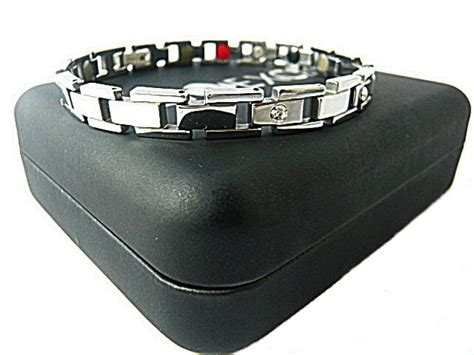 Bracelet Tungsten Ceramic Magnetic Healt Silver bioexcel tungsten magnetic bracelet silver lock choose ebay