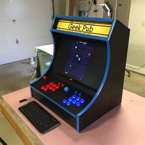 arcade cabinate bartop arcade cabinet plans the pub