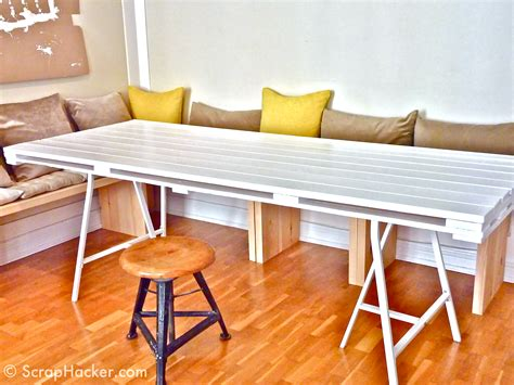 Dining Table Diy D I Y Pallet Dining Table A 10 Step Tutorial