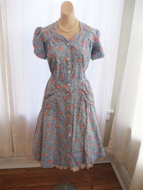 pattern for house dress vintage 1930 s house dress 1940 s cotton chore dress