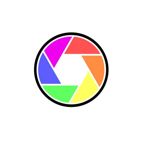 Clipart Digital Camera In Color Logo Png Color
