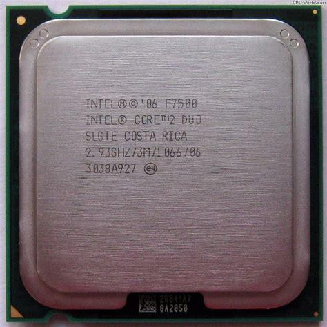 Processor E7500 procesador intel core2duo e7500 a 2 93ghz 3m 1066 socket 775 370 00 en mercadolibre