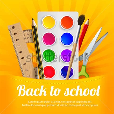 Back To School Flyer Template back to school flyer template 20 in vector eps