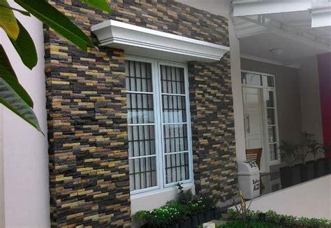 Batu Alam Sisir wow 20 contoh batu alam hitam untuk dinding depan rumah