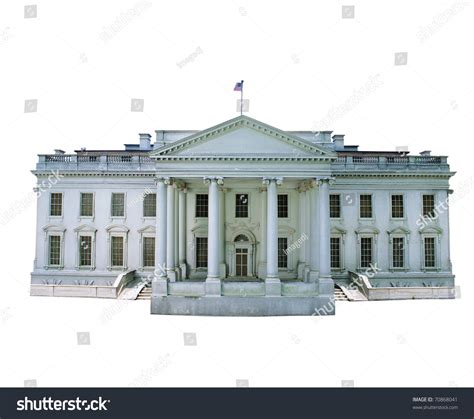 the white house of music replica white house isolated on white stock photo 70868041 shutterstock
