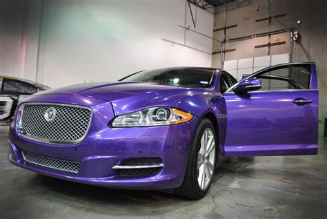 what color is a jaguar violet metallic color change jaguar wrap car wrap city
