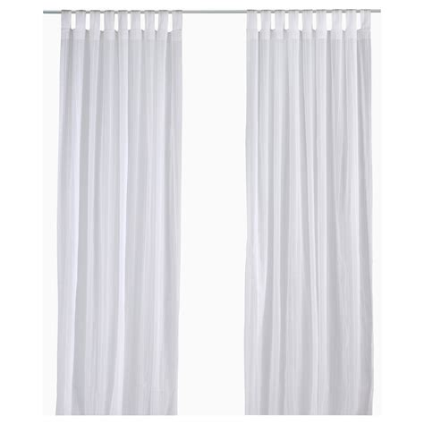 Sheer Curtains White Matilda Sheer Curtains 1 Pair White 140x250 Cm Ikea