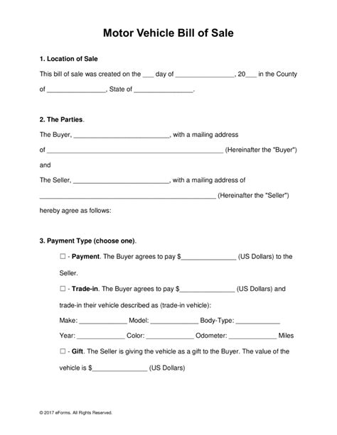 used car bill of sale template pdf bill of sale template pdf askoverflow