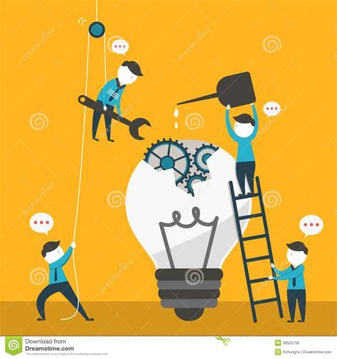 concept design vs illustration illustration concept of team work stock vector
