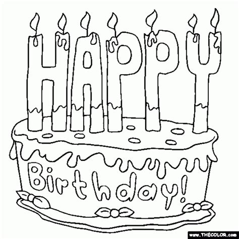 printable coloring pages birthday get this printable birthday cake coloring pages 29255