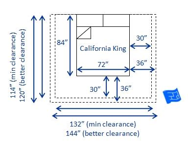 dimensions of cal king bed bed sizes and space around the bed