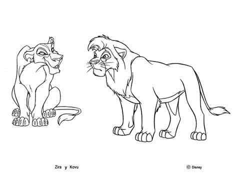 Lion King 2 Vitani And Kopa Coloring Pages Coloring Pages King 2 Coloring Pages