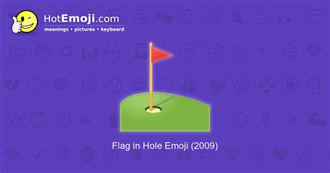 flag  hole emoji meaning  pictures