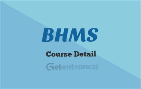 Mba After Bhms by Bachelor Of Homeopathic Medicine And Surgery Bhms Course