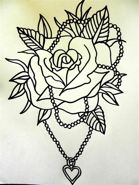tattoo flash rose traditional rose tattoo tattoo flash traditional rose