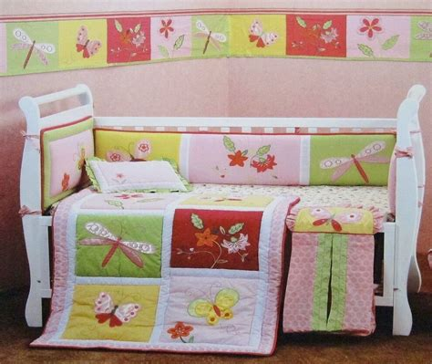 nursery bedding sets australia butterflies 4 pc baby appliqued cot bedding bumper set brand new ebay
