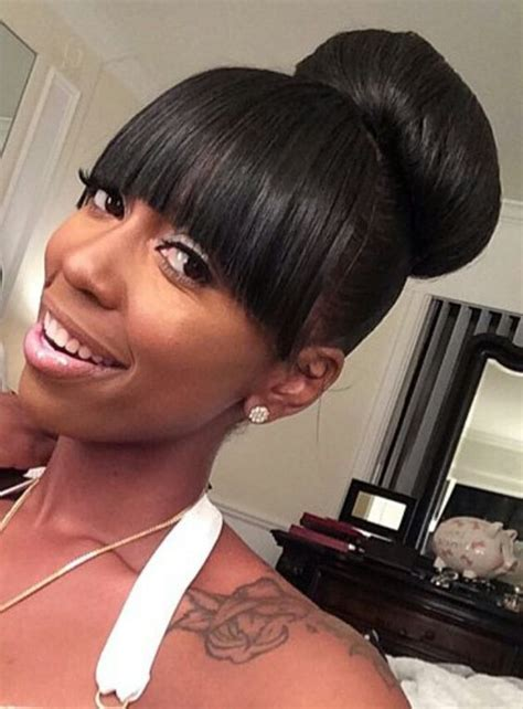 cute african american buns with bangs 82 best black hair updos images on pinterest hair dos