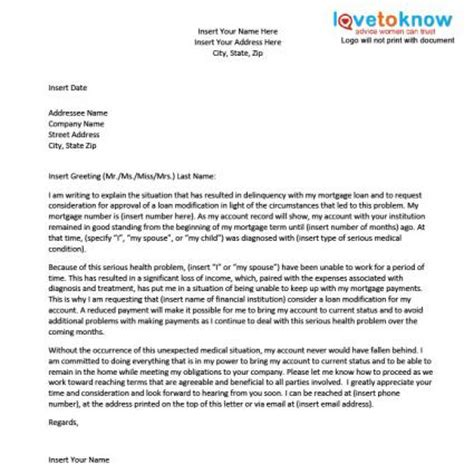 Hardship Letter Because Of Illness Sle Hardship Letter For A Loan Modification Lovetoknow