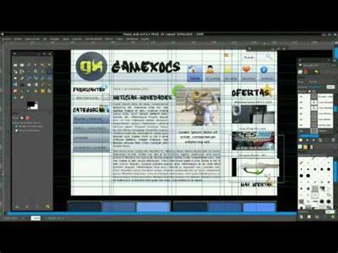 web layout gimp wip website layout in gimp timelapse youtube