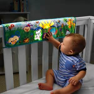 buy fisher price rainforest crib rail soother