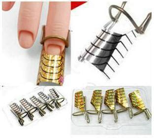 Nail Form Untuk Gel Acrylic Extension 1 5pcs nail form uv gel manicure stand extension stickers for acrylic forms nails box free
